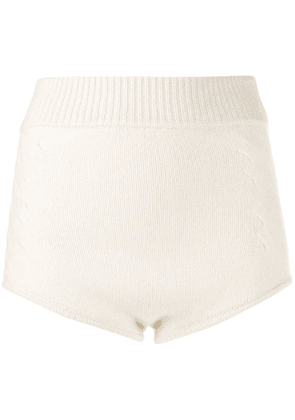 Cashmere In Love knit Mimie shorts - White