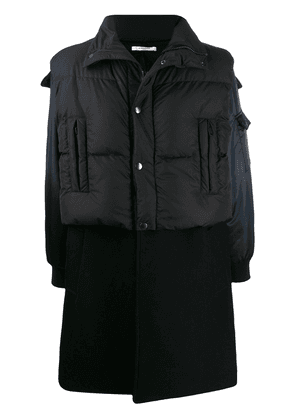 Givenchy layered hooded coat - Black