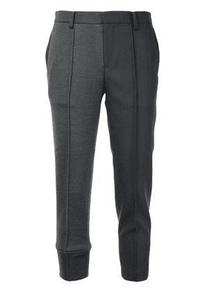 Undercover contrast cropped trousers - Grey