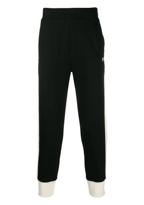 AMI Trackpants with Wool Bands - Black
