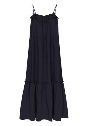 Araks Yasmin tiered ruffle midi dress - Blue
