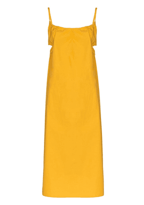 Araks Yeraz cut-out detail midi dress - Yellow