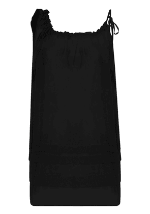 Araks Taline sheer shift mini dress - Black