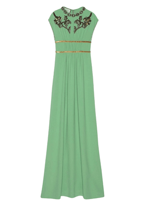 Gucci crystal-embroidered gown - Green