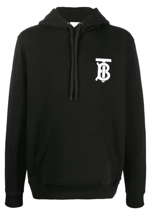 Burberry chest logo hoodie - BLACK