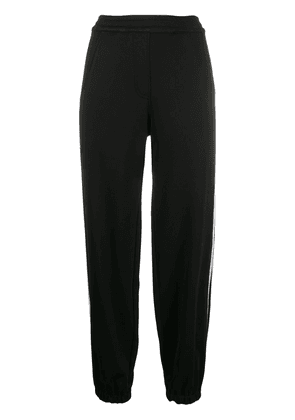Neil Barrett side stripe track pants - Black