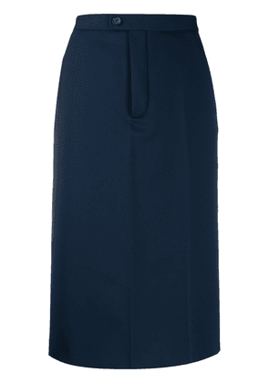 Maison Margiela high-waisted pencil skirt - Blue