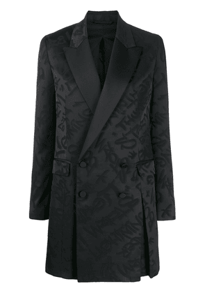 Neil Barrett graffiti short blazer dress - Black