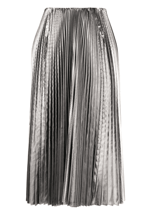 Balenciaga metallic pleated skirt - SILVER
