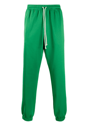 Gucci logo tape track pants - Green