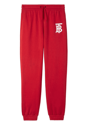 Burberry Monogram motif track trousers - Red