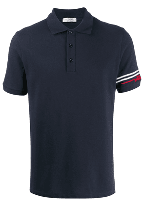 Valentino beaded sleeve polo shirt - Blue