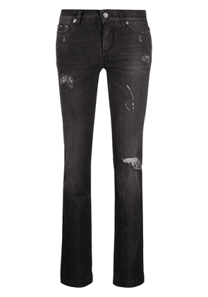 Dolce & Gabbana ripped slim-fit jeans - Black