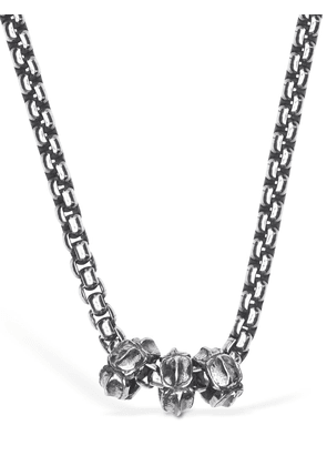 Charms Silver Long Necklace
