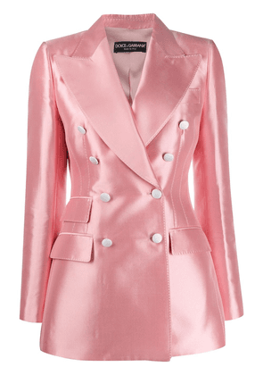Dolce & Gabbana double-breasted shantung blazer - PINK