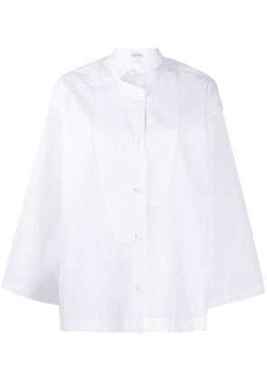 Loewe pointed collar A-line shirt - White