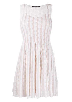 Antonino Valenti embroidered shift dress - White