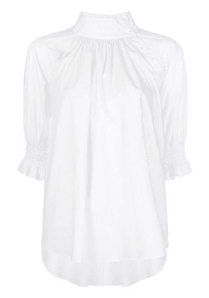 Adam Lippes stand-up collar blouse - White