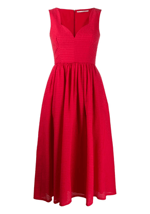 Emilia Wickstead June fit-and-flare dress - Red