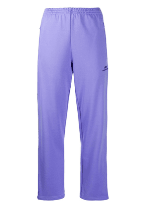 Balenciaga embroidered BB logo track pants - PURPLE