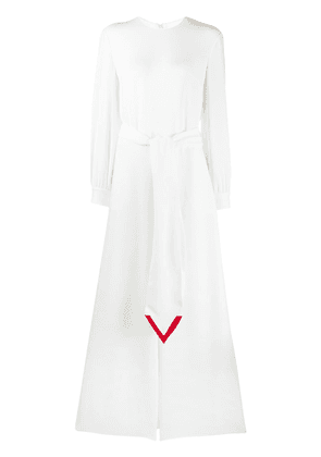 Valentino V intarsia Cady Couture jumpsuit - NEUTRALS