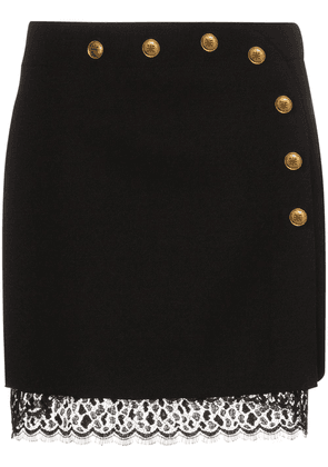 Givenchy button-embellished A-line mini skirt - Black