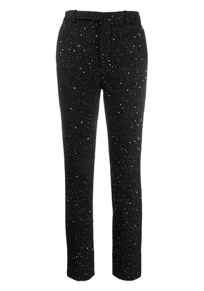 Saint Laurent sequinned slim-fit trousers - Black