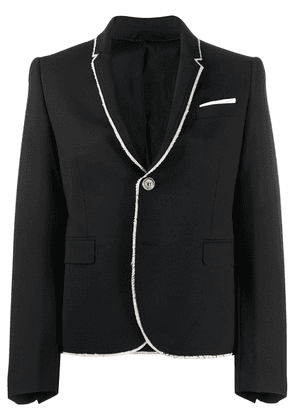 Neil Barrett frayed edge blazer - Black