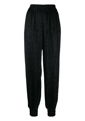 Saint Laurent lamé knit trousers - Black