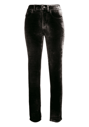 Saint Laurent velour trousers - Black