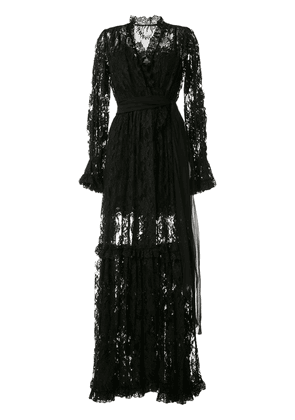 Dolce & Gabbana floral lace evening gown - Black