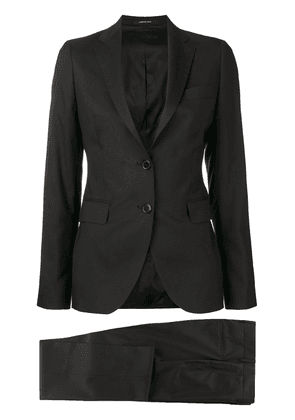 Tagliatore fitted two-piece suit - Black