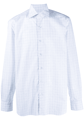 Barba cotton checked shirt - White