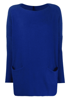 Daniela Gregis two pocket knitted jumper - Blue