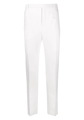 Saint Laurent ribbed tailored trousers - White