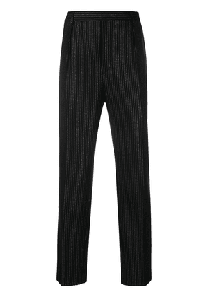 Saint Laurent lamé tailored trousers - Black