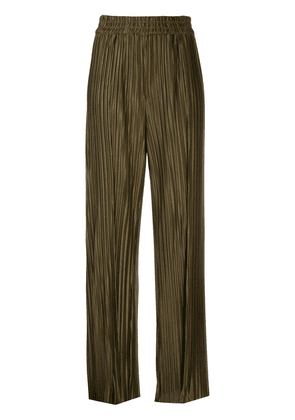 Alice+Olivia pleated wide leg trousers - Green