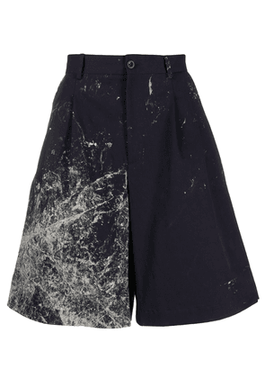 Maison Margiela abstract print wide-leg bermuda shorts - Blue
