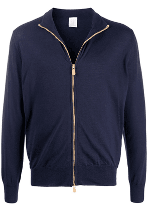 Eleventy zipped fitted cardigan - Blue