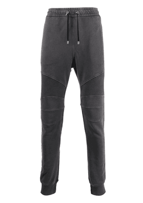Balmain rib panelled track pants - Grey