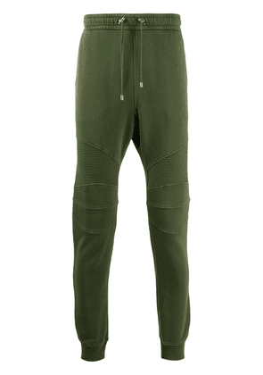 Balmain ribbed-knee joggers - Green