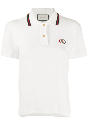 Gucci Interlocking-G embroidered polo shirt - White