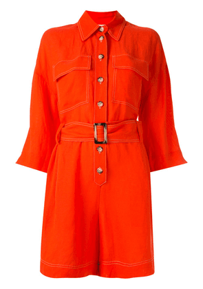 Ginger & Smart Memoir contrast-stitching playsuit - Red