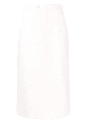 Maison Margiela raised seams midi-skirt - White