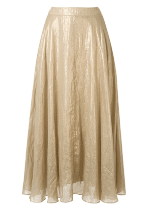 Ginger & Smart Glorious metallized A-line skirt - GOLD