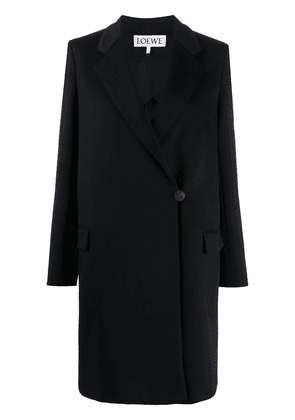 Loewe notched-lapel double breasted coat - Black
