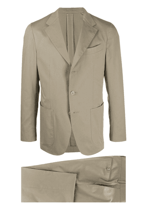 Caruso two-piece formal suit - NEUTRALS