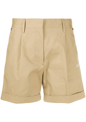 Off-White high waisted cotton shorts - Neutrals