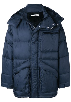 Givenchy oversized hooded puffer coat - Blue