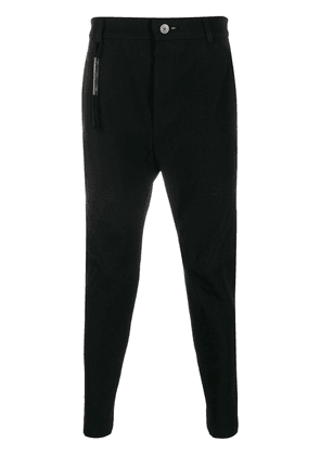 Cedric Jacquemyn Decoup ribbed tapered trousers - Black
